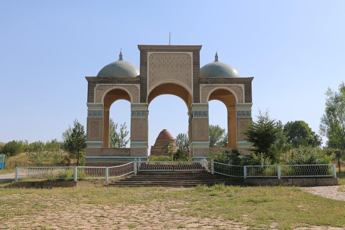Shakh Fazil Mausoleum in Jalal-Abad region, Kyrgyzstan