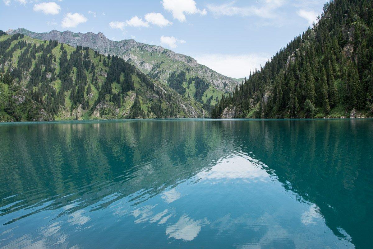 Sary Chelek Lake in Jalal-Abad Region, Kyrgyzstan
