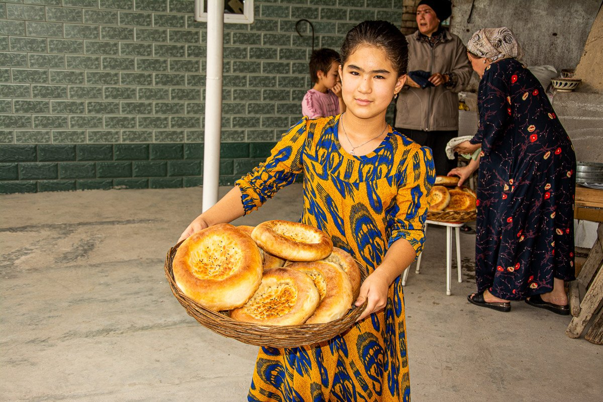Jalal-Abad City Bread Making Workshop, Bread Fresh From the Oven - Kyrgyzstan